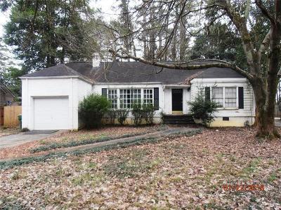 Atlanta Single Family Home For Sale: 4522 Wieuca Road NE