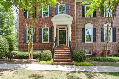 Alpharetta Condo/Townhouse For Sale: 12100 Dancliff Trace