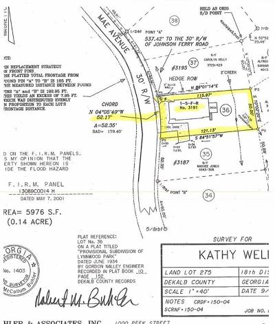 Brookhaven Residential Lots & Land For Sale: 3191 Mae Avenue NE