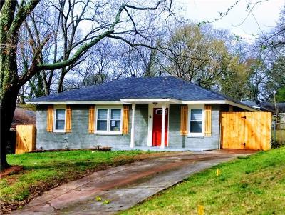 Atlanta Single Family Home For Sale: 1911 Fremont Street SE