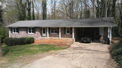 Roswell Single Family Home For Sale: 5054 Fitts Drive NE