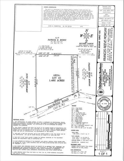 Coweta County Residential Lots & Land For Sale: Dogwood Road
