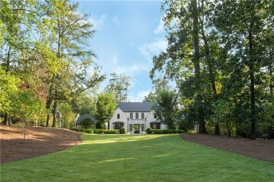Single Family Home For Sale: 800 W Paces Ferry Road NW