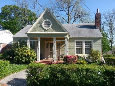 Old Fourth Ward Single Family Home For Sale: 718 East Avenue NE