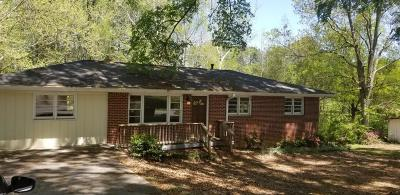 Acworth Single Family Home For Sale: 3120 Hickory Grove Road