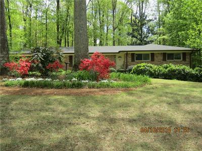 Smyrna Single Family Home For Sale: 3434 Valley Vista Road SE