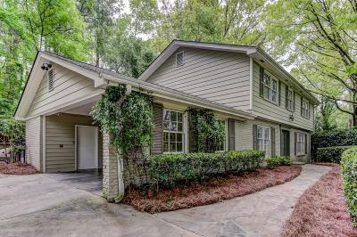 Sandy Springs Single Family Home For Sale: 470 River Valley Road