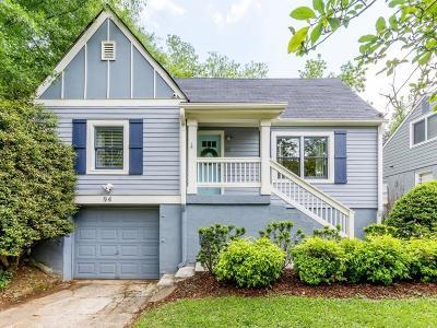 Atlanta Single Family Home For Sale: 94 Wyman Street SE