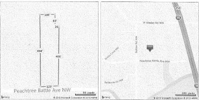 Residential Lots & Land For Sale: 1237 Peachtree Battle Avenue NW