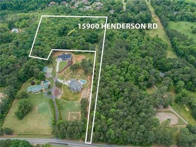 Milton  Single Family Home For Sale: 15900 Henderson Road