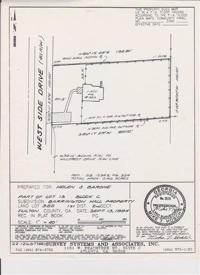 Roswell Residential Lots & Land For Sale: 383 Westside Drive