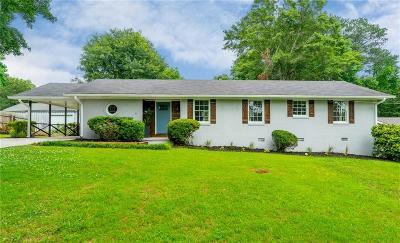 Smyrna Single Family Home For Sale: 3515 King Springs Road SE