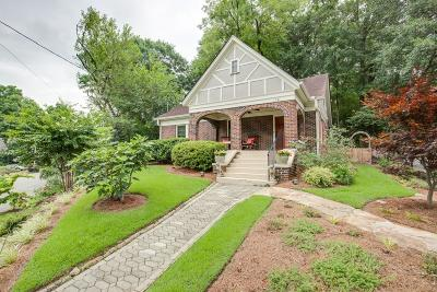 Inman Park Single Family Home For Sale: 1121 Alta Avenue