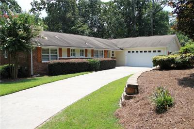 Sandy Springs Single Family Home For Sale: 345 Ridgeview Trail