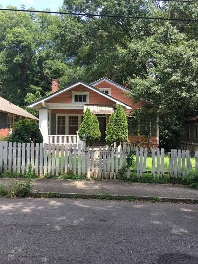 Atlanta Single Family Home For Sale: 1372 Graham Street SW