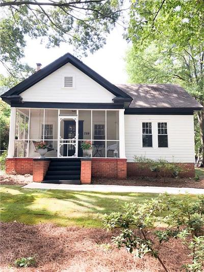 Marietta Single Family Home For Sale: 359 Whitlock Avenue SW