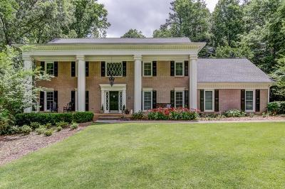 Sandy Springs Single Family Home For Sale: 7610 Ball Mill Road