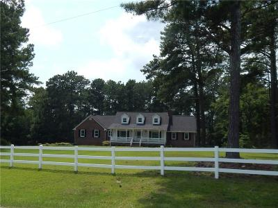 Loganville Single Family Home For Sale: 5155 Kent Rock Road