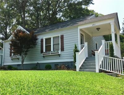 Single Family Home For Sale: 481 Maynard Terrace SE