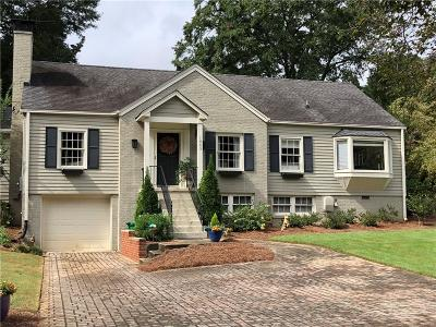 Druid Hills Single Family Home For Sale: 1885 Westminster Way NE