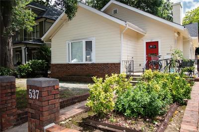 Old Fourth Ward Single Family Home For Sale: 537 East Avenue NE