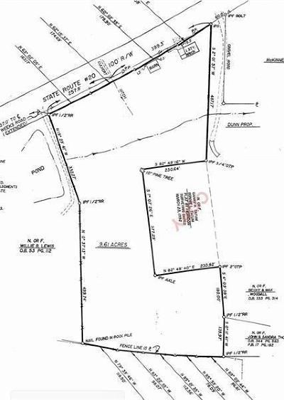 Canton Land/Farm For Sale: 8798 Knox Bridge Highway