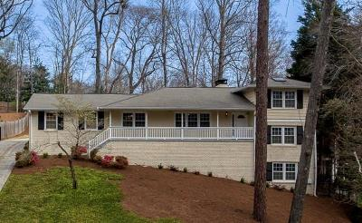 Sandy Springs Single Family Home For Sale: 490 Highbrook Drive