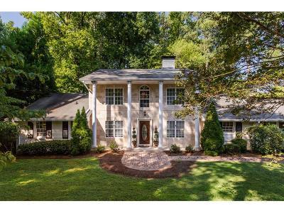 Sandy Springs Single Family Home For Sale: 7000 Brandon Mill Road