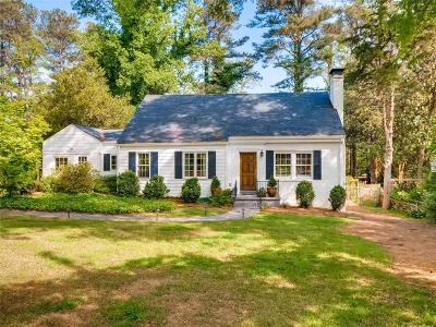 Druid Hills Single Family Home For Sale: 1836 Westminster Way NE