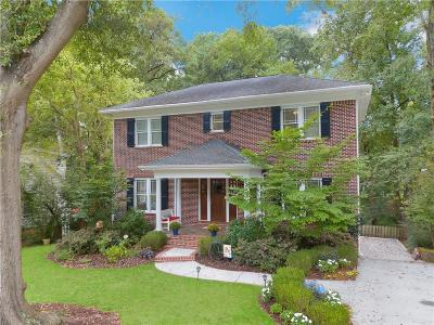 Druid Hills Single Family Home For Sale: 1161 Hancock Drive NE