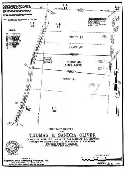 Douglas County Residential Lots & Land For Sale: Phillips Mill Road