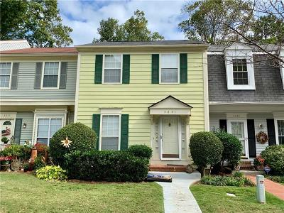 Peachtree Corners, Norcross Condo/Townhouse For Sale: 3641 Monticello Commons