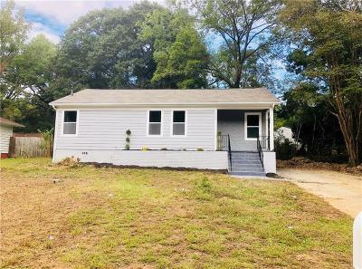Atlanta Single Family Home For Sale: 729 Gainer Road SW