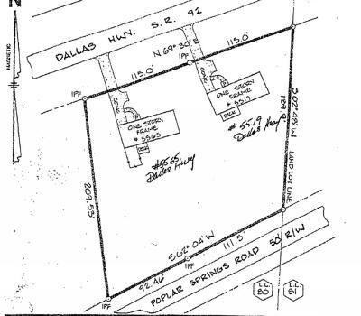 Dallas Land/Farm For Sale: 5565 And 5519 Dallas Highway