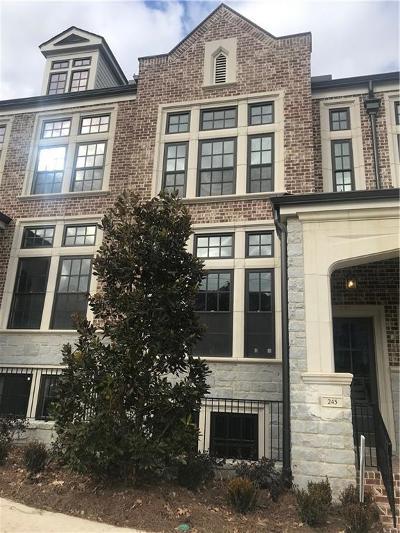 Atlanta Condo/Townhouse For Sale: 245 Devin Place NE #33