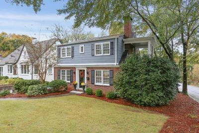 Virginia Highland Single Family Home For Sale: 884 Barnett Street NE