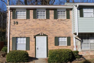 Union City Condo/Townhouse For Sale: 4701 Flat Shoals Road #39A