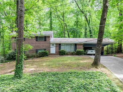 Brookhaven Single Family Home For Sale: 3430 Inman Drive NE