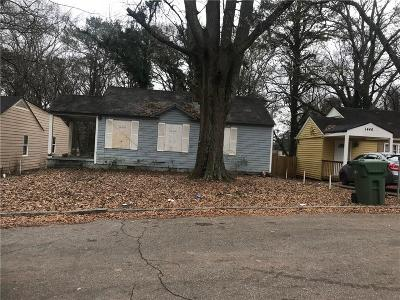 Single Family Home For Sale: 1440 Connally Avenue SW