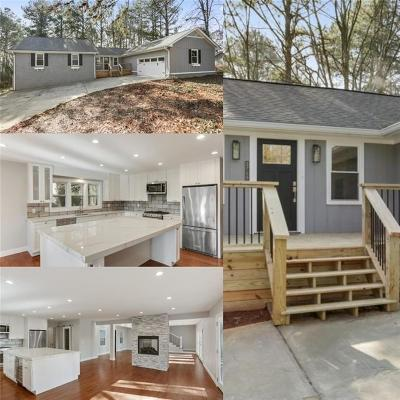 Kennesaw Single Family Home For Sale: 3715 Bozeman Lake Road NW