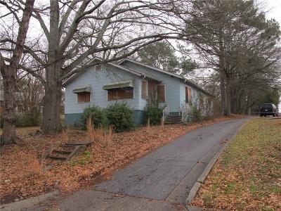 Atlanta Single Family Home For Sale: 1456 Gault Street SE