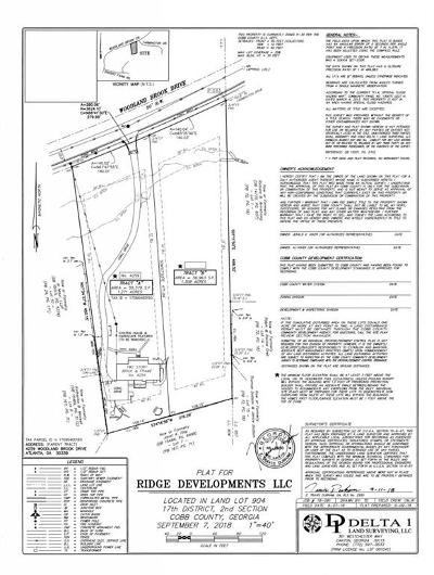 Vinings Residential Lots & Land For Sale: 4245 Woodland Brook Drive