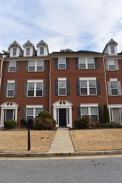 Kennesaw Condo/Townhouse For Sale: 3306 Chastain Garden Drive