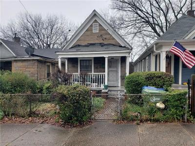 Old Fourth Ward Single Family Home For Sale: 142 Howell Street NE