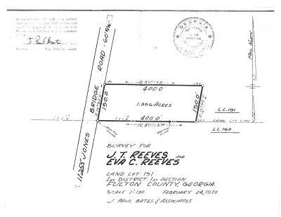 Alpharetta Residential Lots & Land For Sale: 11255 Jones Bridge Road