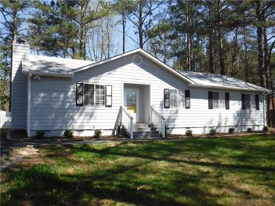 Acworth Single Family Home For Sale: 6110 Fords Road NW