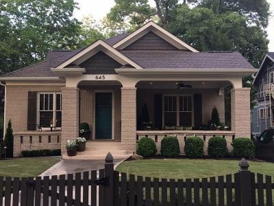Atlanta Single Family Home For Sale: 645 Seminole Avenue