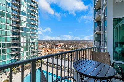 Condo/Townhouse For Sale: 923 Peachtree Street NE #1222