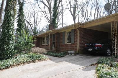 Druid Hills Single Family Home For Sale: 1297 The By Way NE
