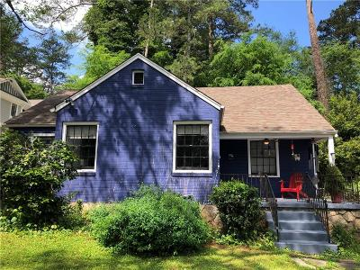 Decatur Single Family Home For Sale: 1015 S Candler Street